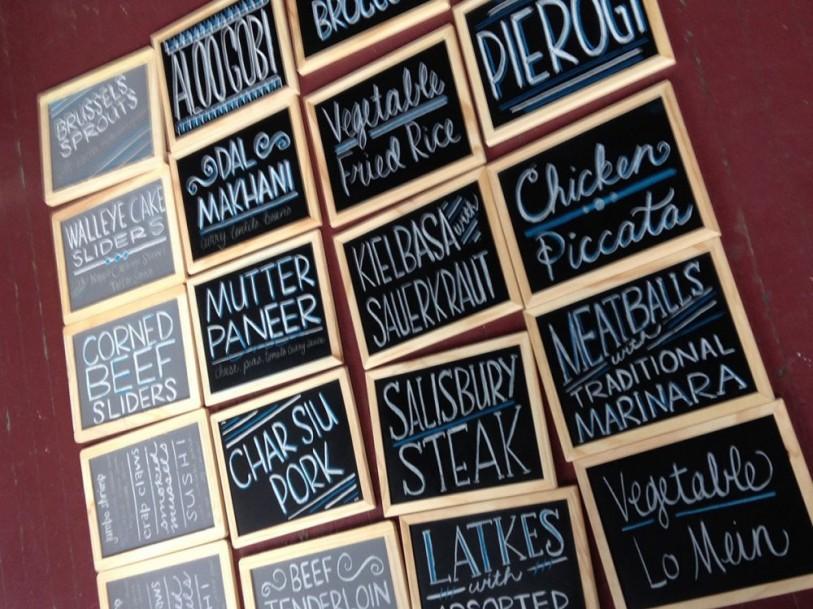 Chalkboard Food