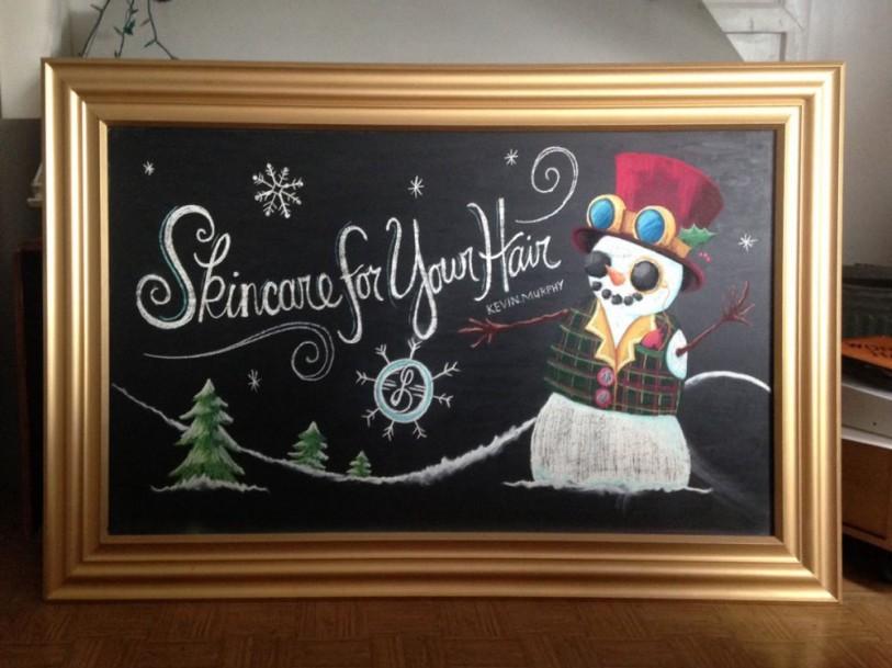 Chalkboard Lebeau Steampunk Snowman